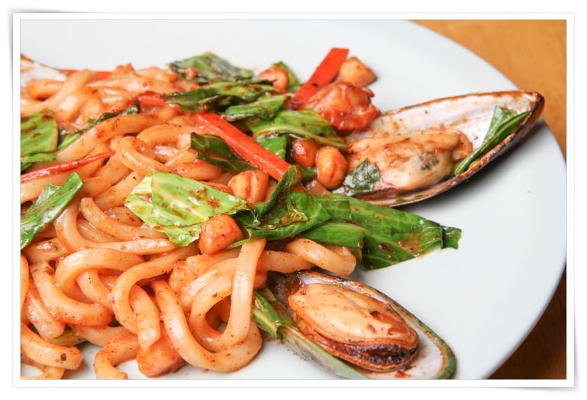 Seafood Yaki Udon Pasta